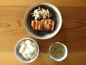 燻製グリルチキン定食 ¥1000