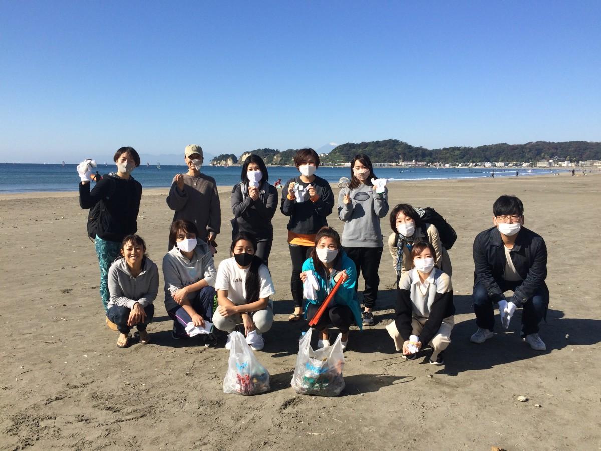 11月14日(土)ビーチヨガ&ビーチクリーン@鎌倉材木座海岸 報告