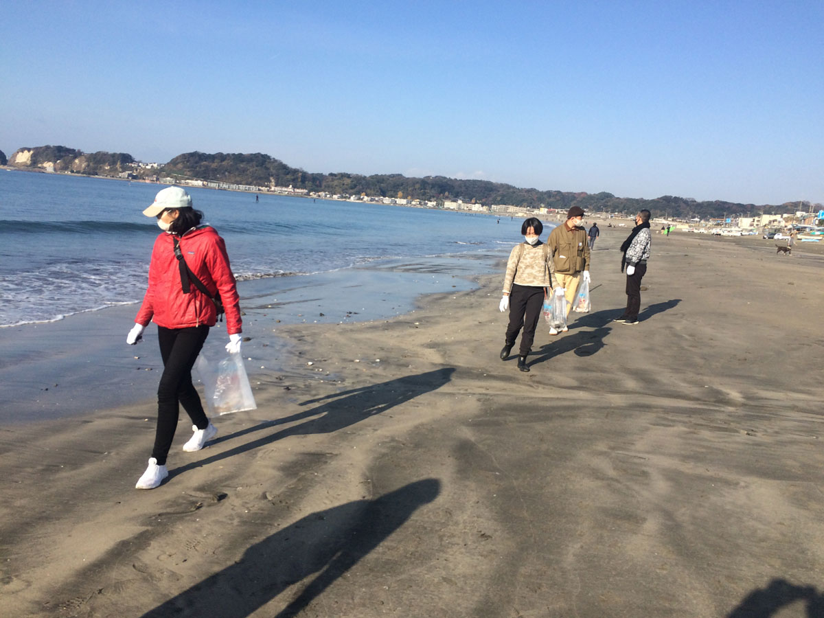 12月13日(日)ビーチクリーン&ティータイム@鎌倉材木座海岸 報告